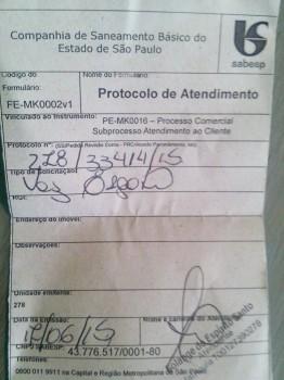 Protocolo de pedido dos moradores