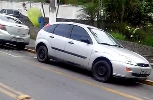 Um dos carros roubados e que foi encontrado pela GCM