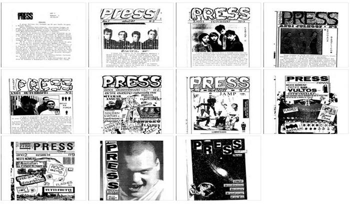 Todas as capas do Press, de 1987 a 1989
