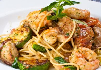 Receita: Spaguettini com camarões
