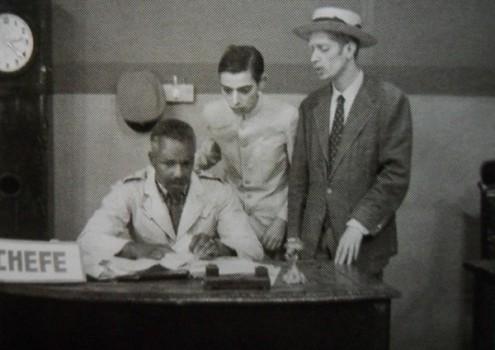 1960 em Jeca Tatu. George (centro) com Dalmo Ferreira e Amandio Silva Filho