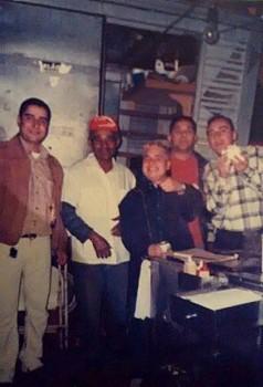 Zé e alguns de seus clientes assíduos: Leandro (Espiga), Juba, Nando e Minhocão