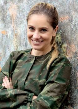 Juliana Baroni nos bastidores da gravação em Caucaia