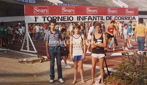 1984: Marcênio, Alexandre Gonçalves (Ratão) e Alexandre (Filho do Santista) em corrida da