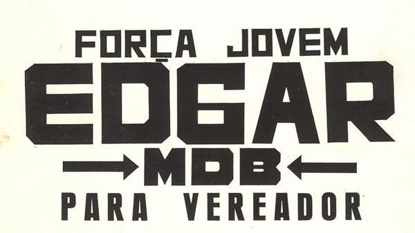 Adesivo da campanha do Edgar em 1976