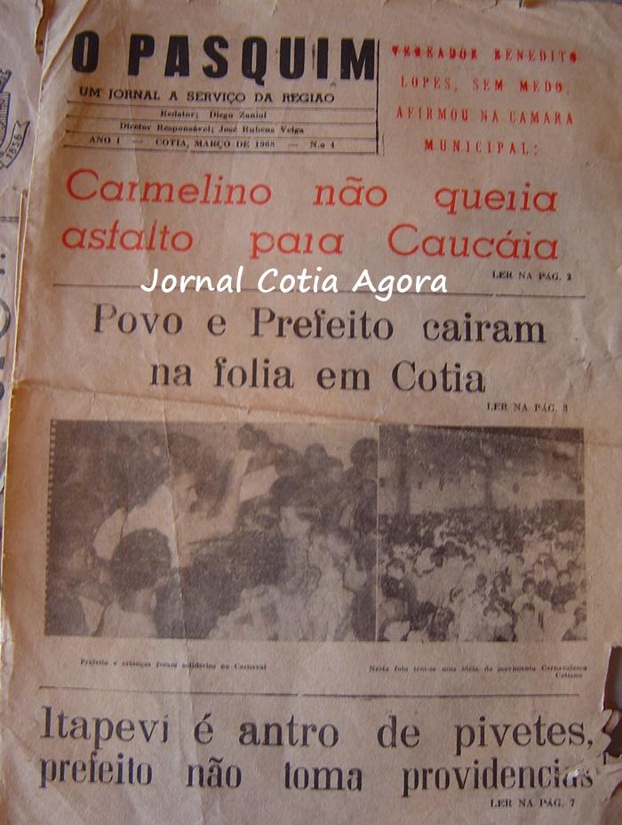 1968. Nosso registro mais antigo do Carnaval cotiano. Jornal O Pasquim, cortesia do Edson Rosa.