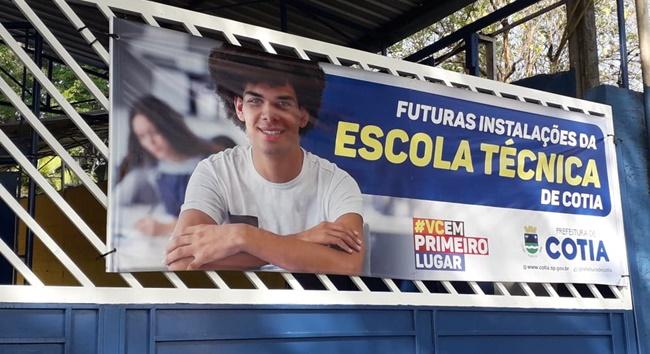 Cotia vai ganhar uma escola técnica municipal até o final do ano